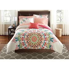 queen bed sets walmart mainstays leaf medal bed in a bag bedding