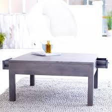 rustic grey coffee table coffee table falan dark gray wood coffee table wbottom shelf