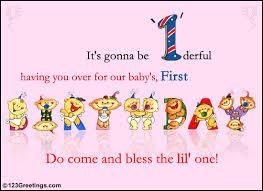 1st birthday e invitations iidaemilia com