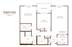 floor plans oakmont of chino hills sequoia suite two bed two bath