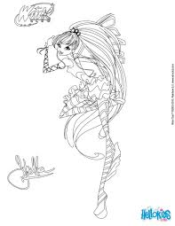 stella transformation sirenix coloring pages hellokids com