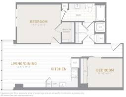 1 Bedroom Floor Plans Floor Plans Insignia On M Apartments The Bozzuto Group Bozzuto