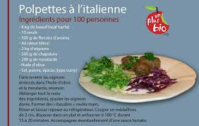 recettes cuisine bio la recette les polpettes à l italienne du collège d arthez de