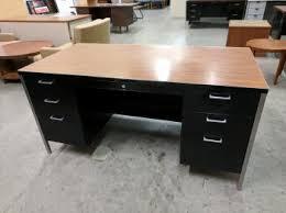 metal desk with laminate top black metal desk with oak laminate top madison liquidators