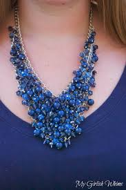 make chain necklace images Diy bead cluster web necklace my girlish whims jpg
