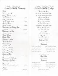 wedding program layout program set ups