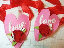 how to make a heart hanging pocket valentines day decoration photo