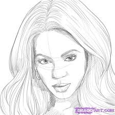 how to draw beyonce step by step music pop culture free online