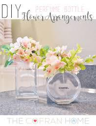 diy perfume bottle flower arrangements empty perfume bottles