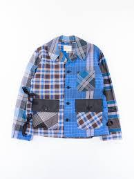 bureau factory blue check factory jacket by nicholas daley the bureau belfast