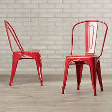 Red Metal Chair Red Chairs Ebay