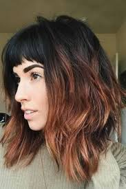 update to the bob haircut bangs with a ponytail hairstyle inverted bob long bob and ombre