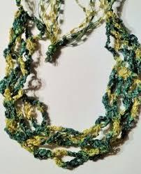 trellis ladder yarn necklace instructions ladder ribbon necklace by saphy98 on etsy 7 00 scarfs