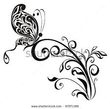 12 butterflies ornaments vector images lace butterfly vector