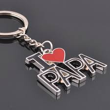 aliexpress com buy l love papa letter keychain father u0027s day gift
