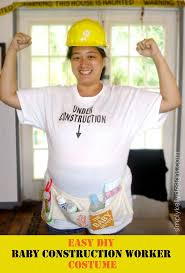 Construction Worker Costume Easy Diy Baby Construction Worker Costume For During Pregnancy