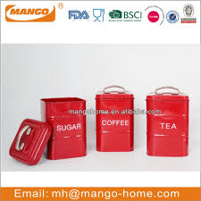airtight metal logo kitchen canister set with wooden cover view