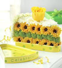 Flowers For Birthday Birthday Cake Floral Arrangement Slice Of Life From 1 800