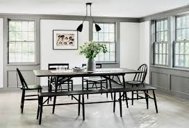 Modern Farmhouse Dining Room With Grey Trim Coco Kelley Dining