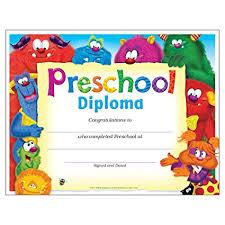 preschool diploma trend enterprises inc preschool diploma friends
