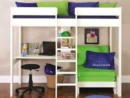 High Sleeper With Futon And Desk Metal High Sleeper Bed With Desk And Futon Furniture Shop