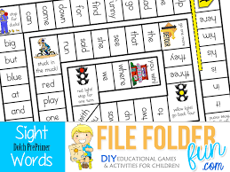 printable kindergarten sight words kindergarten sight word games