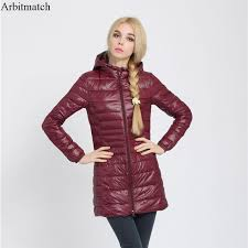 Ladies Duvet Coats 2017 New Brand Winter Warm Coat Women Ladies Long Ultra Light 90
