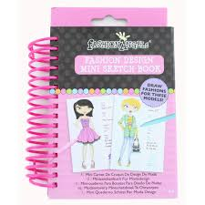 fashion angels fashion design mini sketch book children u0027s paper