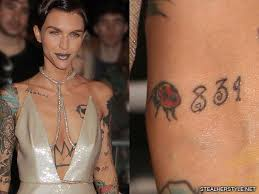 samantha tattoo on her neck ruby rose s 48 tattoos meanings steal her style page 2
