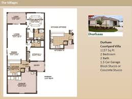The Villages Floor Plans The Villages Homes Courtyard Villas Durham Model