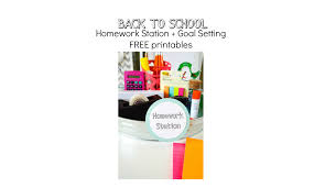 back to homework station goal setting tips celebrate in