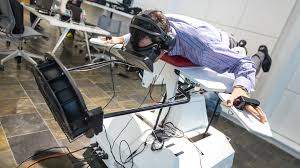 gaming setup simulator hands on with birdly a virtual reality flight simulator tested