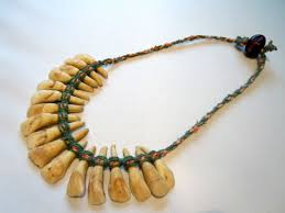 tooth necklace images 1970s vintage native american indian donkey tooth necklace with a jpg