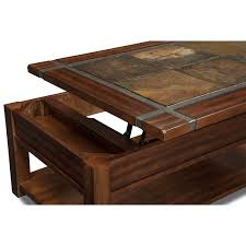 slate ridge lift top cocktail table cherry value city furniture