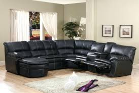 Black Sectional Sofa With Chaise Flynn Black Bonded Leather Reclining Sectional Sofa With Console