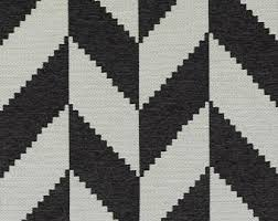 Black And White Striped Upholstery Fabric Black Suzani Upholstery Fabric Heavyweight Woven Ikat For