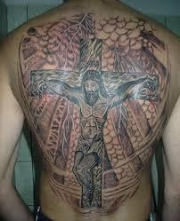cross back tattoo designs page 26