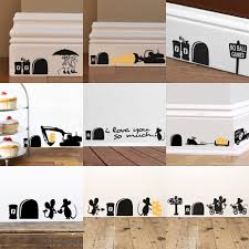 compare prices on family wall stickers online shopping buy low funny mice family wall stickers home decor kids living room creative sticker self adhesive black vinyl