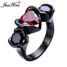 aliexpress buy junxin new arrival black junxin new sale fashion heart design rings black
