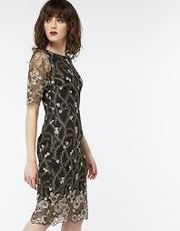 monsoon dresses monsoon gladioli embroidered lace dress black 10 3433500110