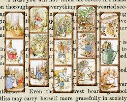 peter rabbit classic art bookmarks printable collage sheet jpg