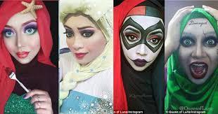 makeup artistry books muslim makeup artist transforms herself into disney and comic book