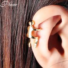 human earrings phesee style 3 color rock climbing human shape vintage clip