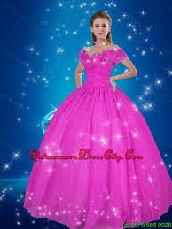shoulder pink seller cinderella quinceanera