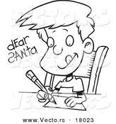 santa letter coloring page royalty free stock designs of xmas page 8