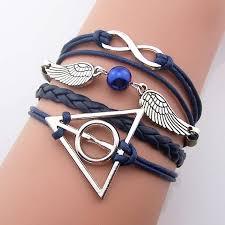 vintage infinity bracelet images Harry potter bracelet jewelry navy blue silver bronze JPG