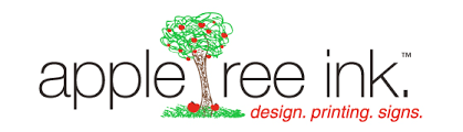 appletree ink printing signs banners copies logo design