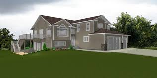 Walkout Basement Home Plans Basement Walkout Basement House Plans In Tan With A Garage For