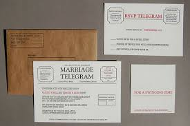 Telegram Wedding Invitation Amarillo Y Crema Marriage Telegram