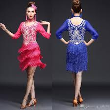tassels women competition salsa latin dance clothes sequins